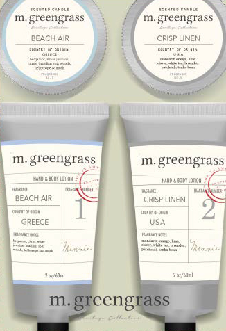 Mgreengrass Candle and lotion